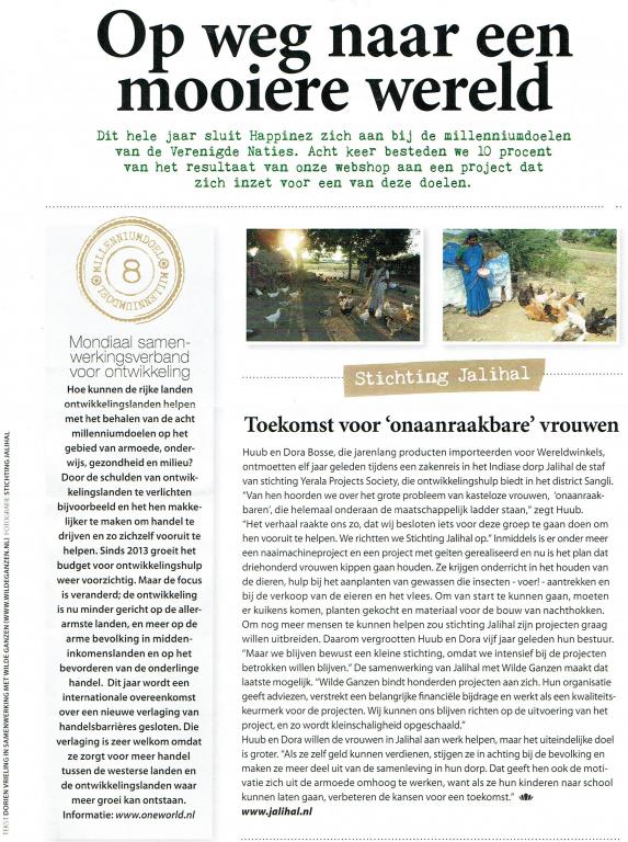 Artikel in Happinez